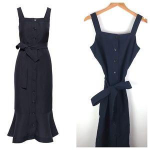 NWT Banana Republic Navy Linen Blend Dress Size M